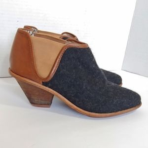 Matt Bernson Marlow boot in bourbon charcoal wool